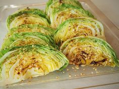 Rouva Kasvis: Paahdetut kaalinlohkot ja sieni-spelttilisäke Risotto, Cabbage, Vegetables, Food, Essen, Cabbages, Vegetable Recipes, Meals, Yemek