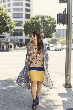 Sarah Cardigan   Gigi Top   Cassie Pencil Skirt   #LuLaRoe #FallFashion