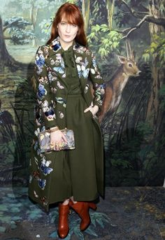 Florence Welch wearing a #Bambi approved print at Valentino Couture