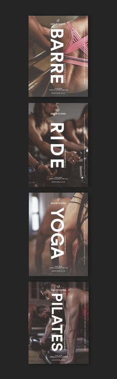 "Heartcore tube adverts campaign 2017. Heartcore is a boutique fitness company with studio's based primarily in Central and WestLondon. The gyms have been designed with a ""lifestyle"" element to them. The interior design goes from details like candle hold…"