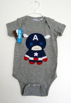 Captain America onesie.
