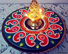 Single piece Kundan Rangoli DIY