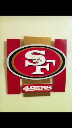 49ers Custom Clocks By Genoarceowoodwork On Etsy