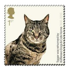 Royal Mail cat postage stamp lapel pin. Combining so many things I like!