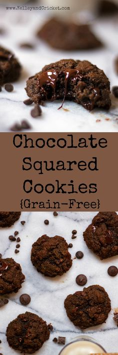Veganize These Chocolate Squared cookies are loaded with chocolate goodness, crispy on the outside and soft and melty in the middle thanks to a secret ingredient. You will never know they happen to be gluten-free, grain-free, dairy-free and paleo.