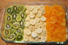 Irish Flag fruit and yogurt dip