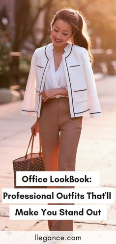 Here's a look book for a working girl trying to get inspiration on professional outfits for women in business. These are fabulous corporate outfits for women and a style that is corporate fashion Corporate Wear, Corporate Outfits For Women, Corporate Fashion Office Chic, Business Professional Outfits, Business Casual Outfits, Business Attire, Office Outfits, Business Women, Office Wear
