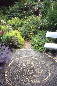 Pebble Mosaic Spiral Patio