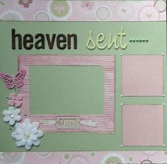 Image result for baby girl scrapbook page ideas