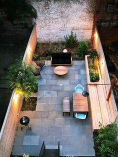 Originally a fully paved yard, the owner wanted a streamlined, cool space to entertain and relax. We used locally sourced materials and strategically placed plants to gain privacy from surrounding