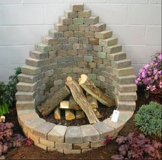 pyramid fire pit