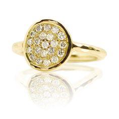 Dazzle 18ct Yellow Gold & Diamond Ring by Dominic Walmsley London.