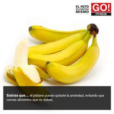 Sabías que... #gofitness #clasesgo #ejercicio #gym #fit #fuerza #flexibilidad #reto #motivate #platano