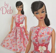 Just a Hint-Vintage Barbie Doll Dress Reproduction Repro Barbie Clothes Fashions