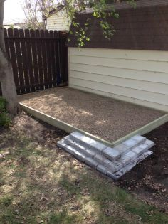 Build a dog potty area in a weekend. Site also gives training tips to teach your dog to use it.