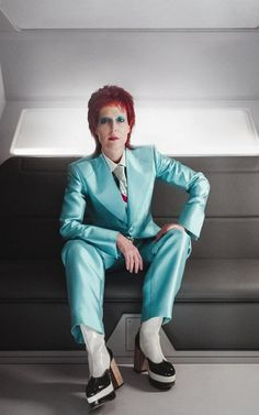 Gillian Anderson's character appears as David Bowie in one episode of the show