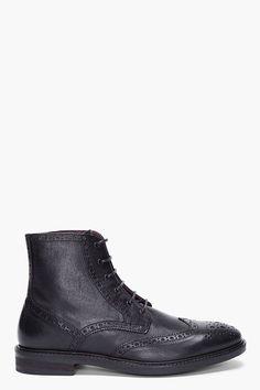 TIGER OF SWEDEN | Black Clive 02 Brogue Boots