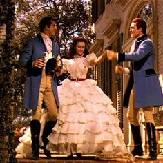 Scarlett O'Hara and the Tarleton twins in 'Gone    With The Wind'
