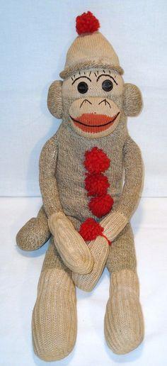 Vintage Sock Monkey Stuffed Animal | eBay