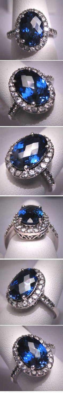 Vintage Sapphire Wedding Ring Retro Art Deco by AawsombleiJewelry, $395.00