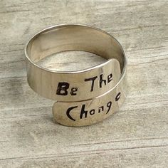 A classic adjustable ring with a powerful message! Choose from several phrases and words. Fair Trade.