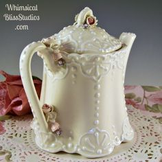 Whimsical Bliss Studios - Victorian Lace Teapot