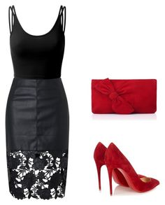 """Untitled #208"" by elma-alibasic ❤ liked on Polyvore featuring Doublju, Christian Louboutin and L.K.Bennett"