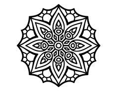 Simple Mandala For Mental Concentration Coloring Page Coloringcrew Color Print 7 5710 | Cedrqu.org
