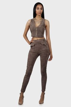 Sweatwater Girls Striped Classic Fit Legging Trousers Slim Cute Pants