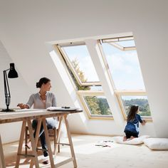 """VELUX Systemlösung """"Lichtband"""" Holz/Kiefer THERMO"""