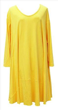 AKH Fashion Lagenlook Tunika Kleid Sommerfarben in gelb XXL Mode bei www.modeolymp.lafeo.de