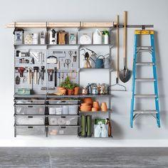 Easy Garage Storage, Garage Shelving, Diy Garage, Garage Office, Garage Doors, Garage Workshop Organization, Home Organization, Organizing Ideas, Garage Storage Inspiration