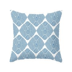 Refresh your sofa with this thoroughly contemporary poplin pillow. A little bit of geometry and a lot of color in a cheery graphic are sure to give just the effect you've been looking for! Choose eithe...  Find the Diamond Illusion Pillow in Blue, as seen in the Bedroom Refresh Sale: Bedding Collection at http://dotandbo.com/collections/january-bedding-sale-bedding?utm_source=pinterest&utm_medium=organic&db_sku=MBW0038