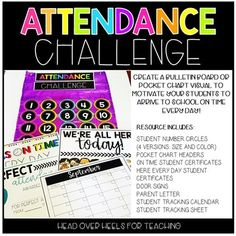 by Joanne Miller Attendance Incentives, Attendance Ideas, Classroom Attendance, Attendance Tracker, Student Attendance, Classroom Behavior, School Secretary Office, Student Numbers, School Displays