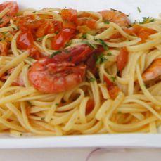 Spaghetti con gli scampi - dieta mediterranea - Hotel Calanca - Marina di Camerota #iomangioitaliano
