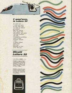 Pubblicità di Giovanni Pintori per la macchina da scrivere Lettera 22, 1960