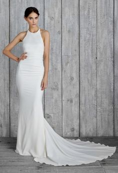 wedding dress; Nicole Miller