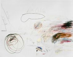 Cy Twombly (Works dating from 1959-72) 1. Untitled 2. Nini's Painting 3. Fifty Days at Iliam: Achaeans in Battle 4. Untitled 5. Poems to the Sea 6. Leda and the Swan Rome