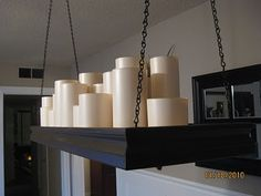DIY candle chandelier