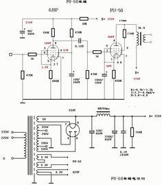 6j8p+fu50 tube amplifier