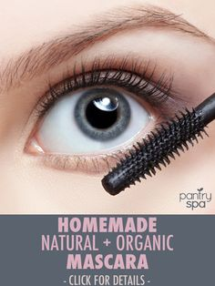 Castor oil makes the best natural mascara. It leaves your eyelashes shiny and healthy while moisturizing your lashes and eyebrows. This is SO much better for you than commercial mascaras!