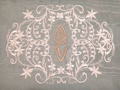 Types of Vintage Lace | Antique Lace Embellished Custom Embroidered Victorian Monogram ...