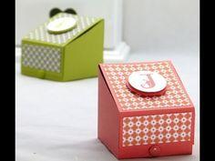 Stampin Up boys gift treat box with tutorial by Sam Stampin Up, Scrapbook Box, Boxes And Bows, Diy Cadeau, Envelope Punch Board, Craft Box, Card Tutorials, Diy Box, Keepsake Boxes