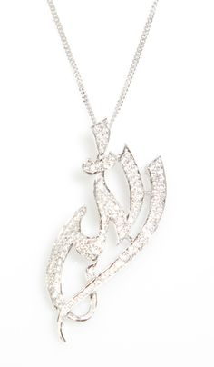 The Pave Diamond-Look Allah Necklace - Islamic Jewelry - Allah Necklaces at Artizara.com