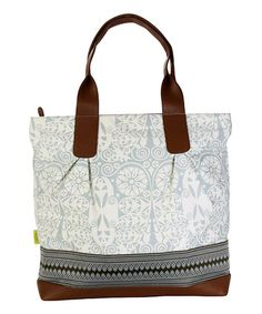 Loving this Temple Doors Dove Gray Cara Organic Tote on #zulily! #zulilyfinds