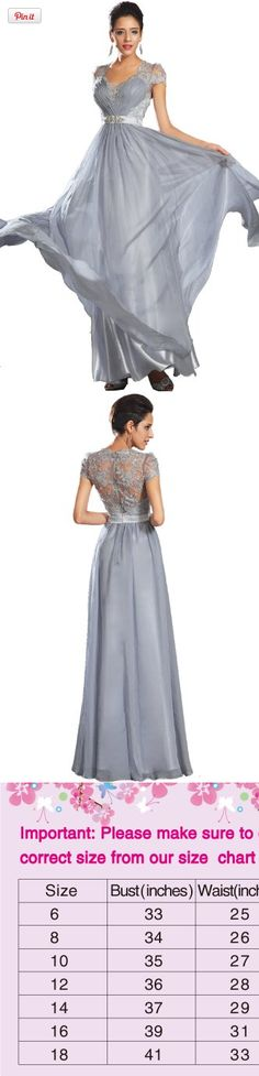eDressit New Cap Sleeves Evening Dress Prom Ball Gown(02130632), *Cap sleeves *Pleated bust *Lace back *Delicated beads on satin waistband *Zip on the back *Built with bra *95% terylene and 5% spandex *Full length (about 155cm from shoulder to the front bottom), #Apparel, #Special Occasion
