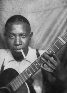 """lThis curse supposedly started with Robert Johnson who died in 1938 at the age of Vicious rumors stated that he made a pact with the Devil so that he could make """"great music."""" Robert Johnson Johnson is credited with inventing the Blues. Robert Johnson, Johnson Johnson, Delta Blues, Jimi Hendrix, Billy Gibbons, Eddie Van Halen, Joe Perry, Jazz Blues, Blues Music"""