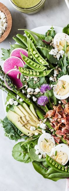 Spring Cobb Salad | 20 Ways to Use Summer Herbs | The Modern Proper Blog
