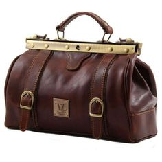 Monalisa - Tuscany Leather - Doctor gladstone leather bag with front straps - Bags For Business - 10