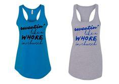 sweaty workout running hot yoga  tanktop by itssweatyweather
